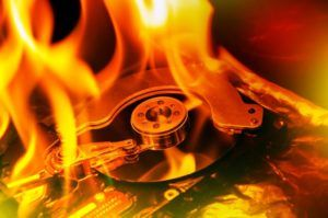 Burning hard disk